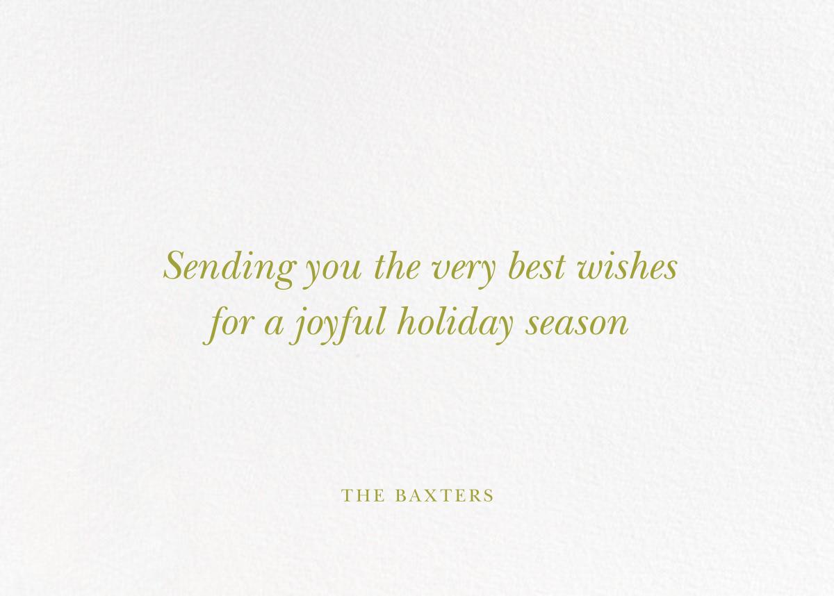 Fir Frame (Horizontal) - Paperless Post - Christmas - card back
