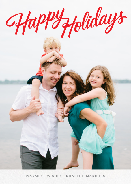 Holiday Classic (Tall) - Paperless Post - Holiday cards