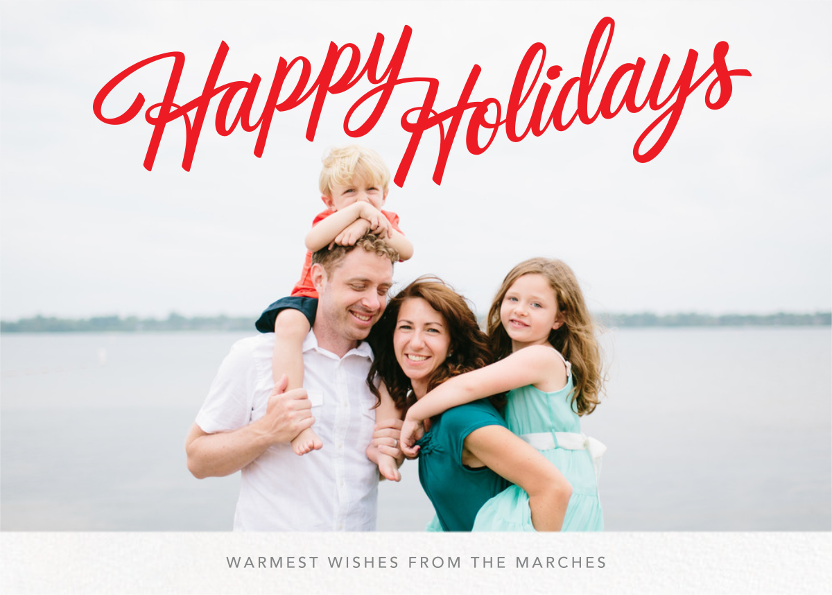 Holiday Classic (Horizontal) - Paperless Post - Holiday cards