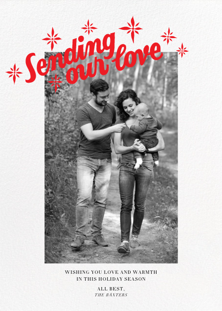 Sending our Love (Tall) - Paperless Post - Holiday cards