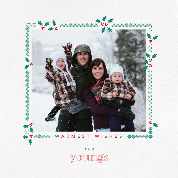 Boughs of Holly (Square) - Paperless Post - Holiday cards