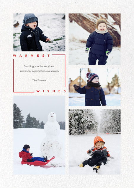 Minimalist Wishes (Tall) - Paperless Post - Holiday cards