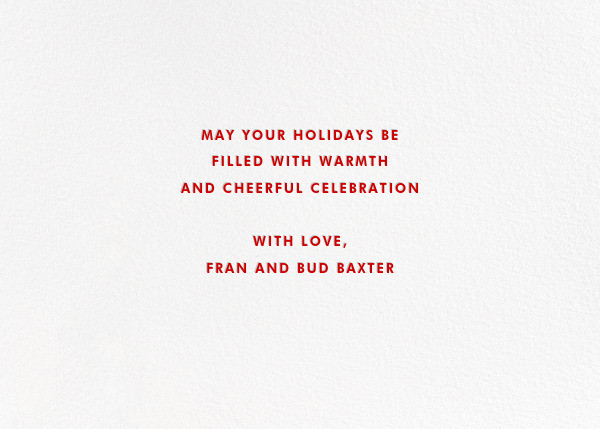More Fun It Is - Red - Paperless Post - Holiday cards - card back