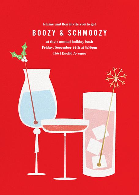 Mistletoe Mixology - Paperless Post - Cocktail party