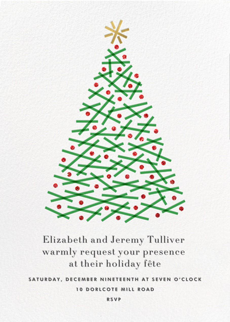 Crisscross Tree - White - Paperless Post - Christmas party