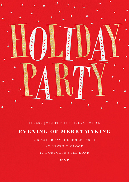 Jaunty Party - Red - Paperless Post - Christmas party