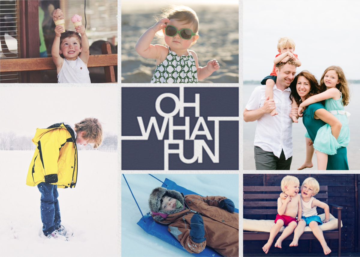 Fun Lines (Multi-Photo) - Navy - Paperless Post - Holiday cards