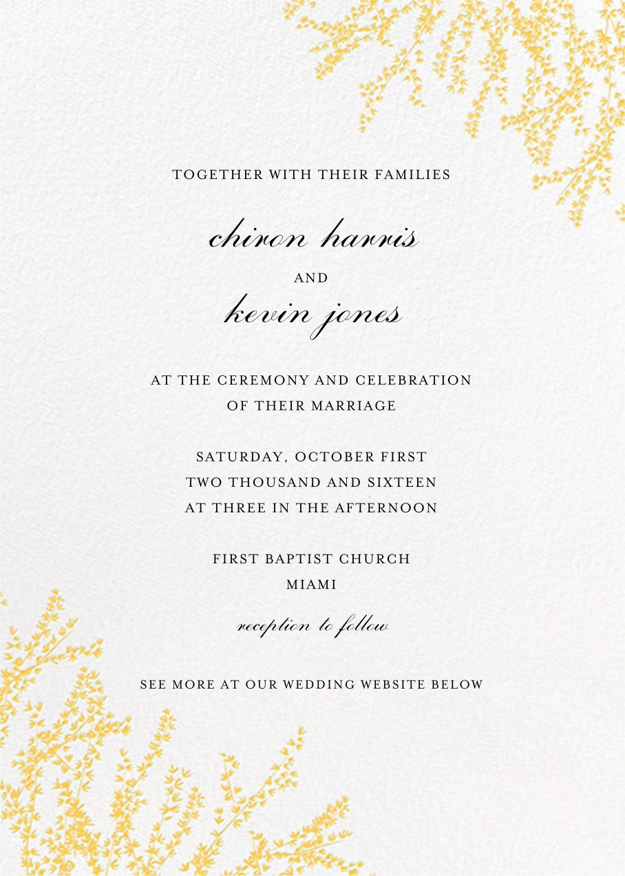 Forsythia (Invitation) - Citrus - Paperless Post - All