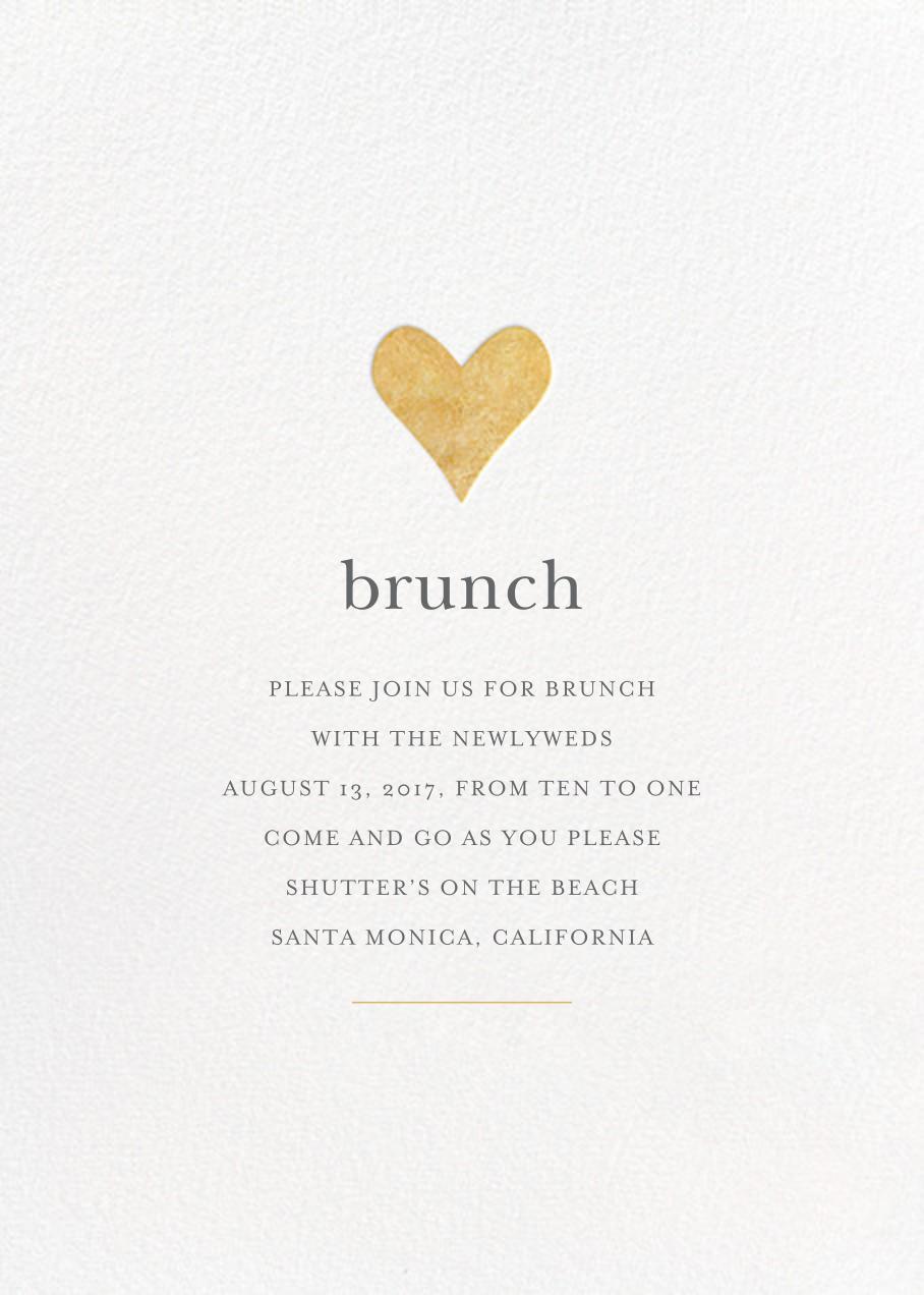 Luminous Heart - White/Gold - Sugar Paper - Wedding brunch