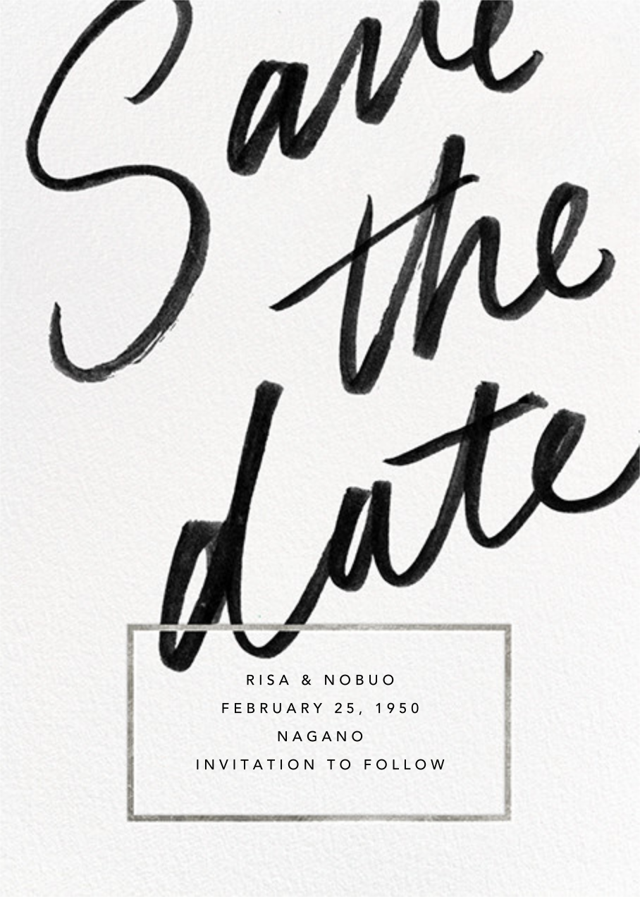 Deighton - Silver - Paperless Post - Party save the dates