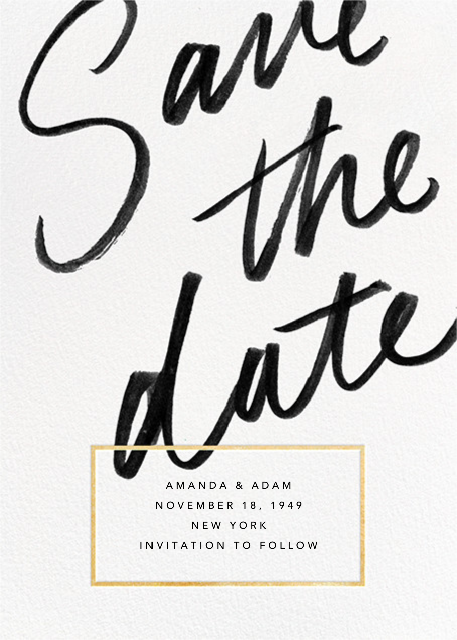 Deighton - Gold - Paperless Post - Party save the dates