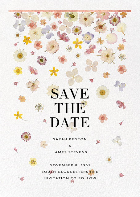 Vincennes (Save the Date) - Rose Gold - Paperless Post - Save the date