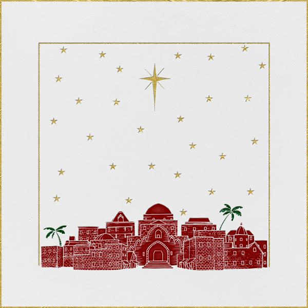 Bethlehem Sky - White - Paperless Post - Christmas