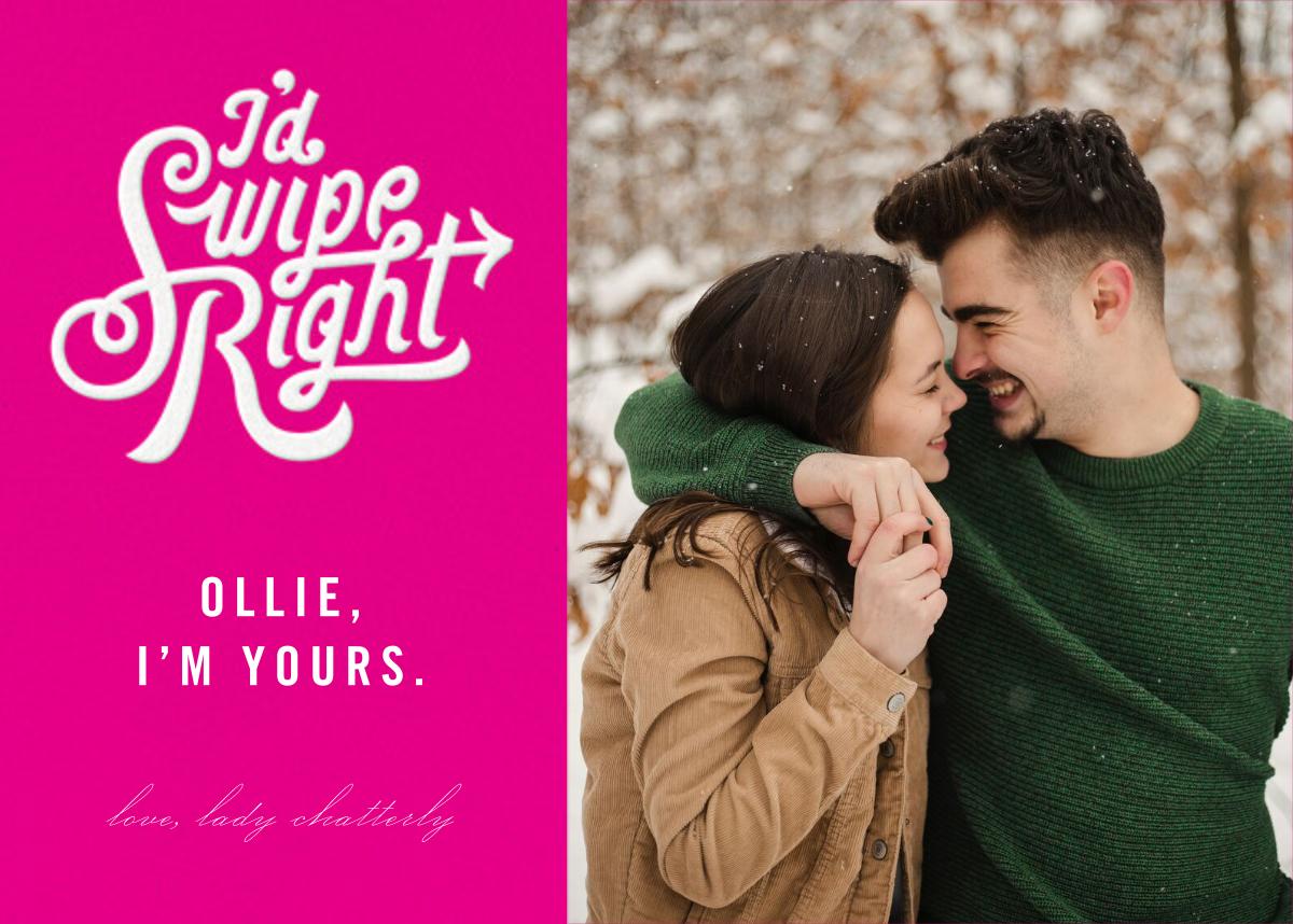 Swipe Right (Photo) - Paperless Post - Valentine's Day