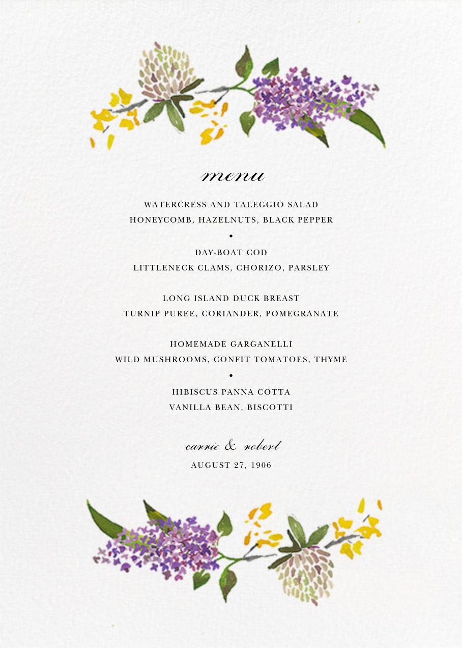 Spring Florets (Menu) - Happy Menocal - Menus
