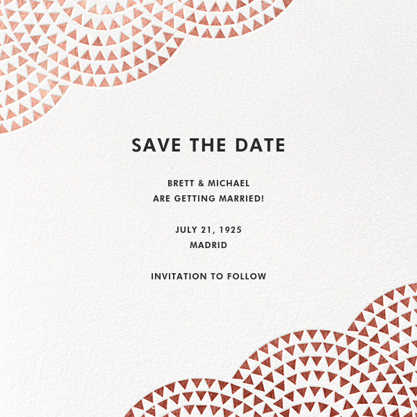 Savoy (Save the Date) - Rose Gold - Paperless Post