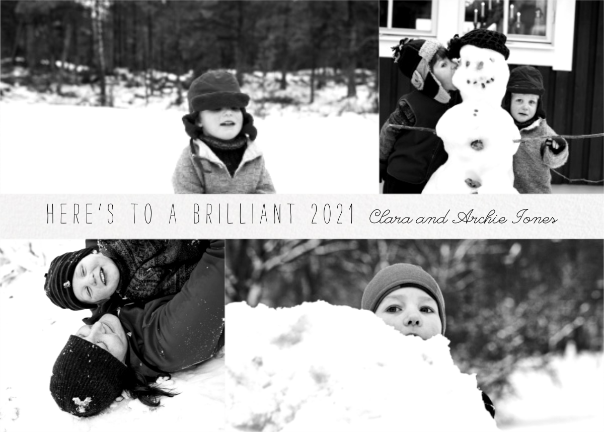 Four Photo Title Card - Ivory - Paperless Post - New Year