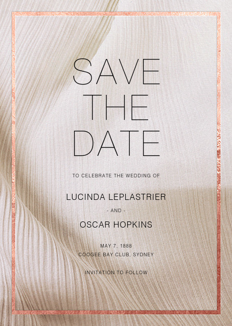 Chiffon - Rose Gold - Paperless Post - Save the date
