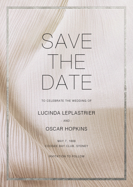 Chiffon - Silver - Paperless Post - Save the date