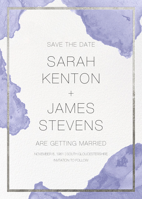 Cumulus - Iris/Silver - Paperless Post - Save the date