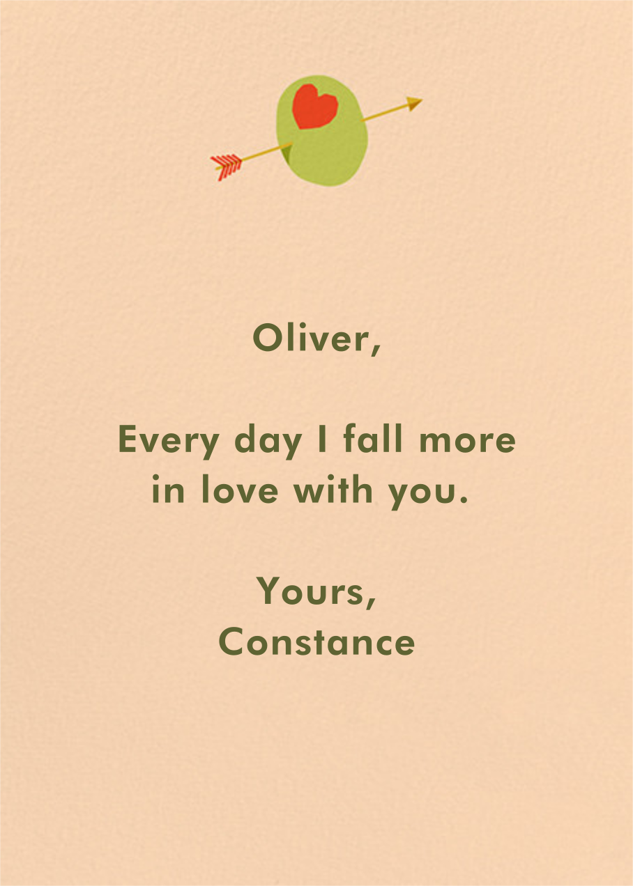 Olive My Love - Paperless Post - Valentine's Day - card back