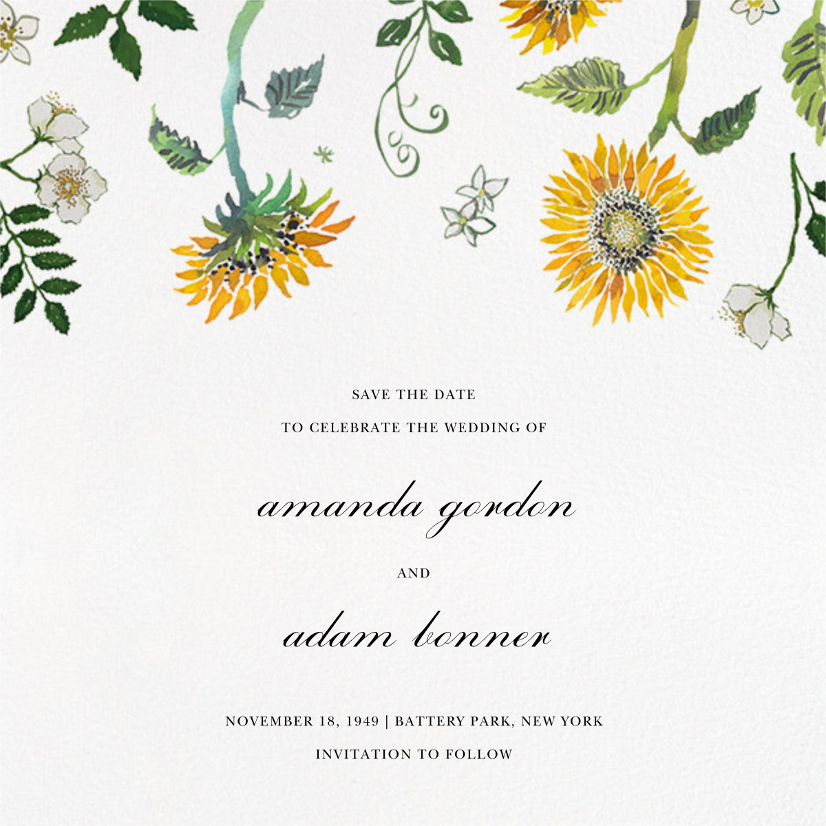 Dandelion Harvest (Save the Date) - Happy Menocal - Save the date