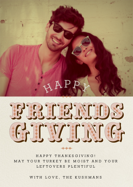 Friendsgiving Photo - Antique Pink - Paperless Post - null