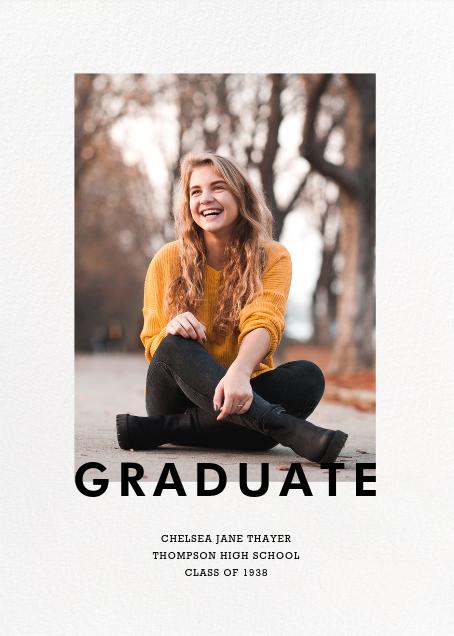 Vertical Overlap - Paperless Post - Graduation