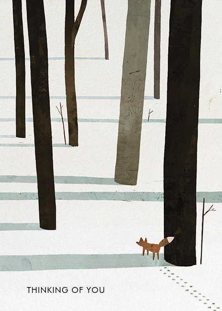 Fox in the Snow (Jon Klassen) - Red Cap Cards - Sympathy