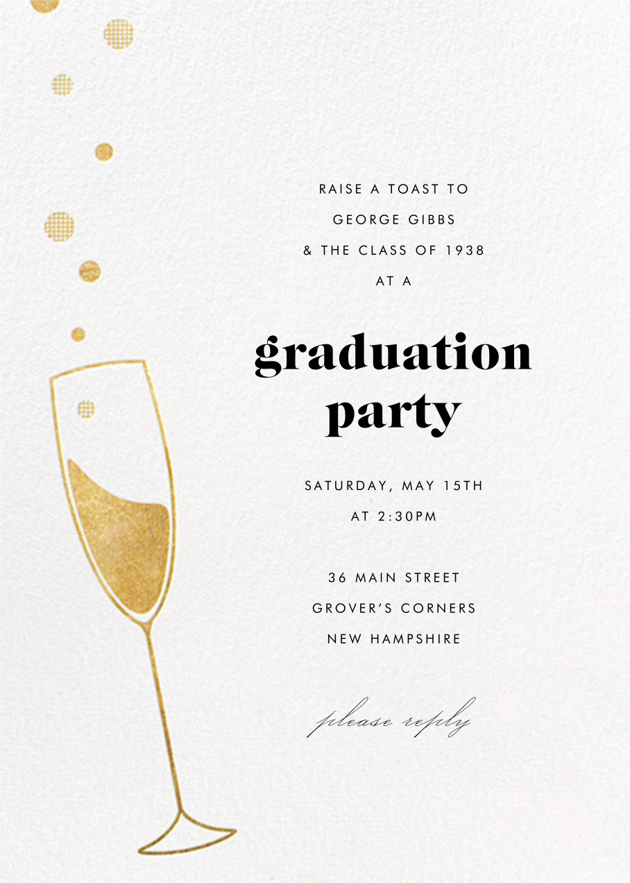 Champagne Bubbles - Paperless Post - Graduation party