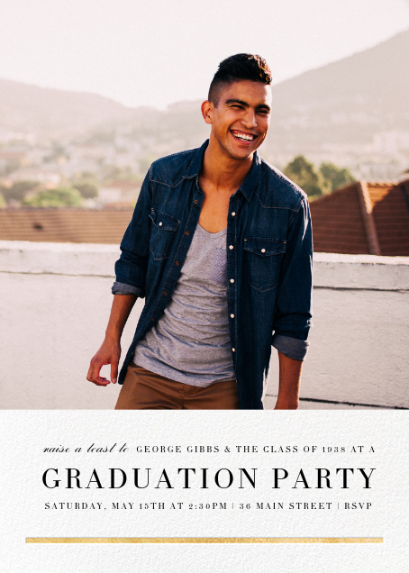 Underscore (Photo) - Gold - Paperless Post - Graduation party