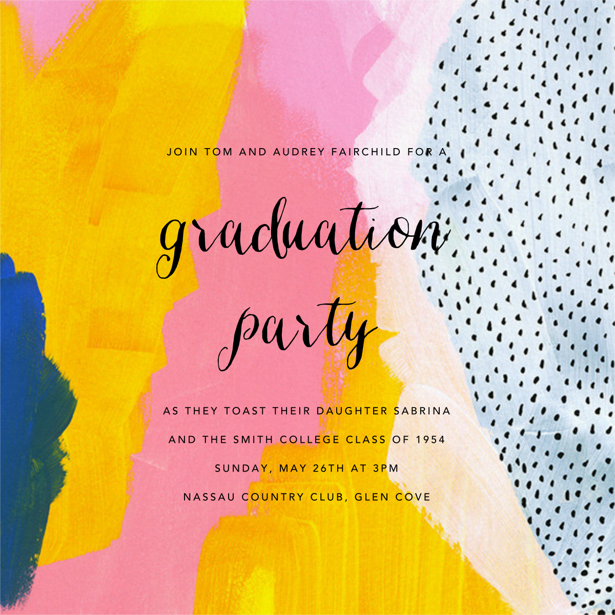 Sundry Strokes - Ashley G - Graduation party