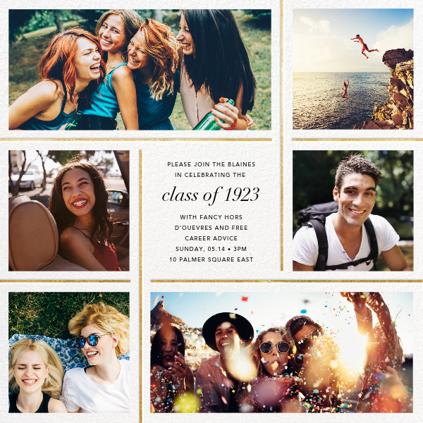 Whitework - Gold - Paperless Post - Graduation party
