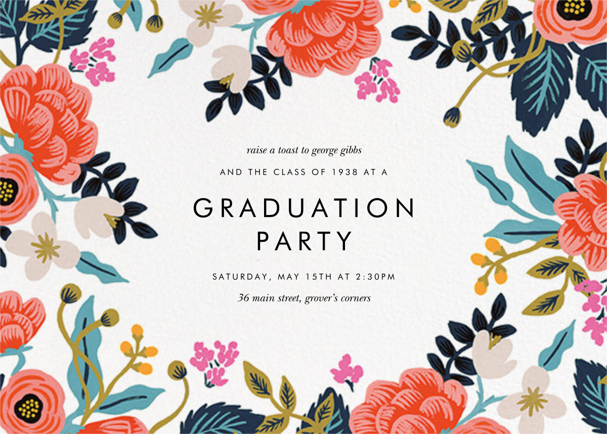 Birch Monarch (Frame) - Ivory - Rifle Paper Co. - Graduation party