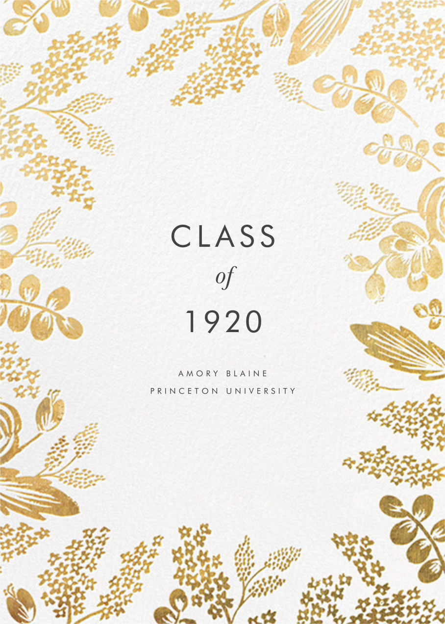 Heather and Lace - Gold - Rifle Paper Co. - Graduation
