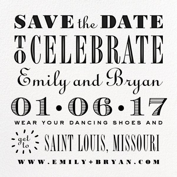 Celebrate the Date - Black - Cheree Berry - Save the date