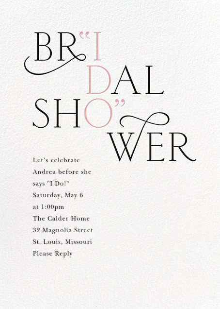 I Do - Cheree Berry - Bridal shower