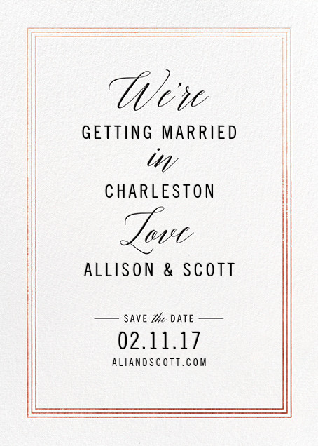 We're in Love - Rose Gold - Cheree Berry - Save the date