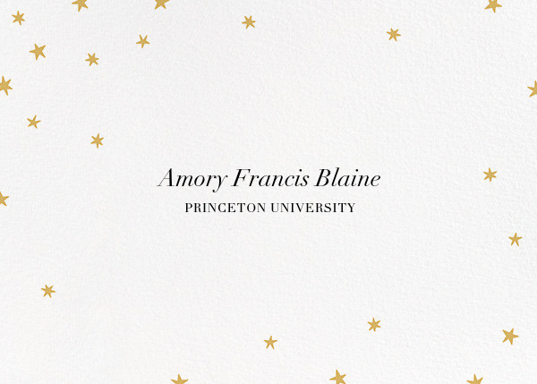 Nightly (Photo) - White/Gold - Paperless Post - Graduation - card back