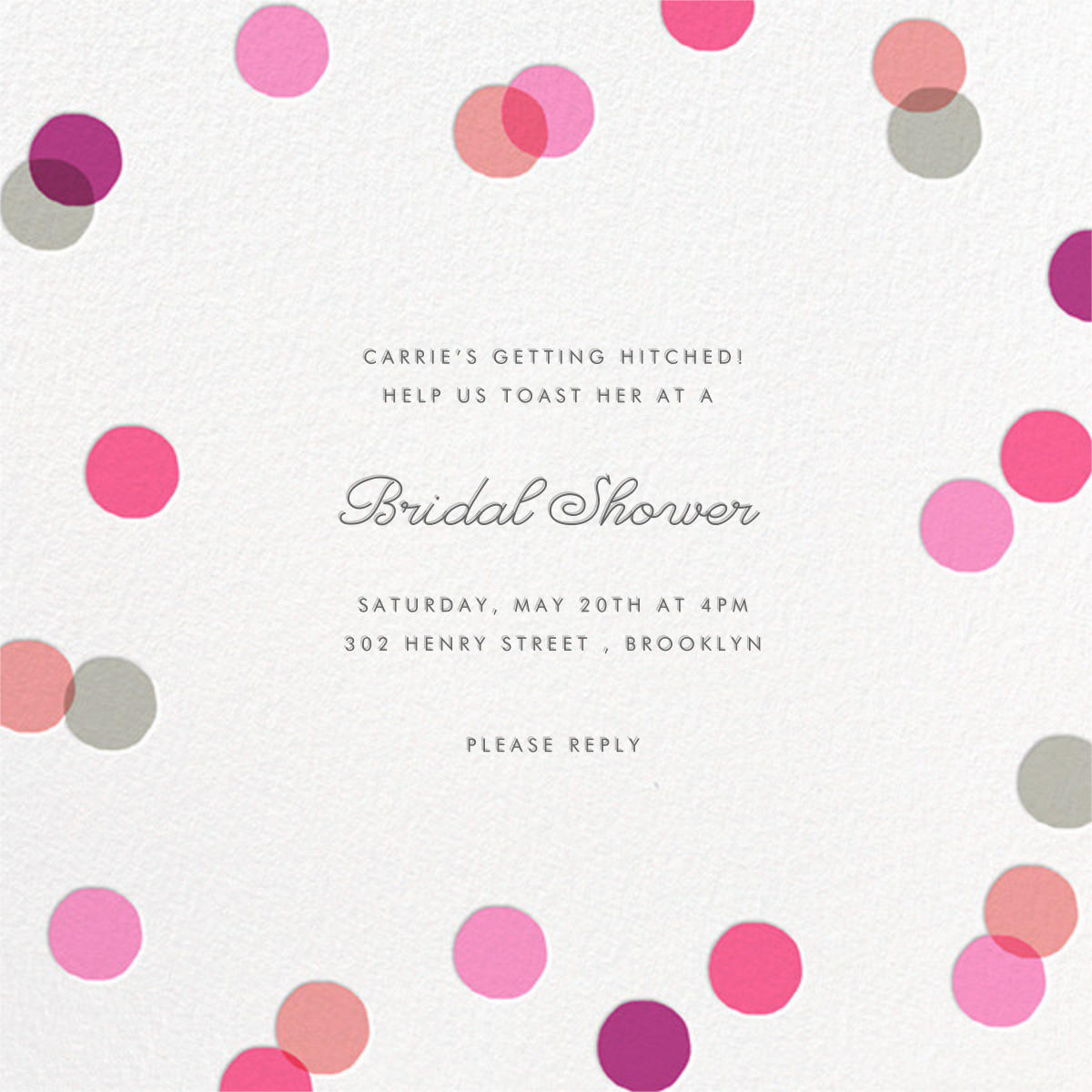 Carnaby - Pink - Paperless Post - Bridal shower