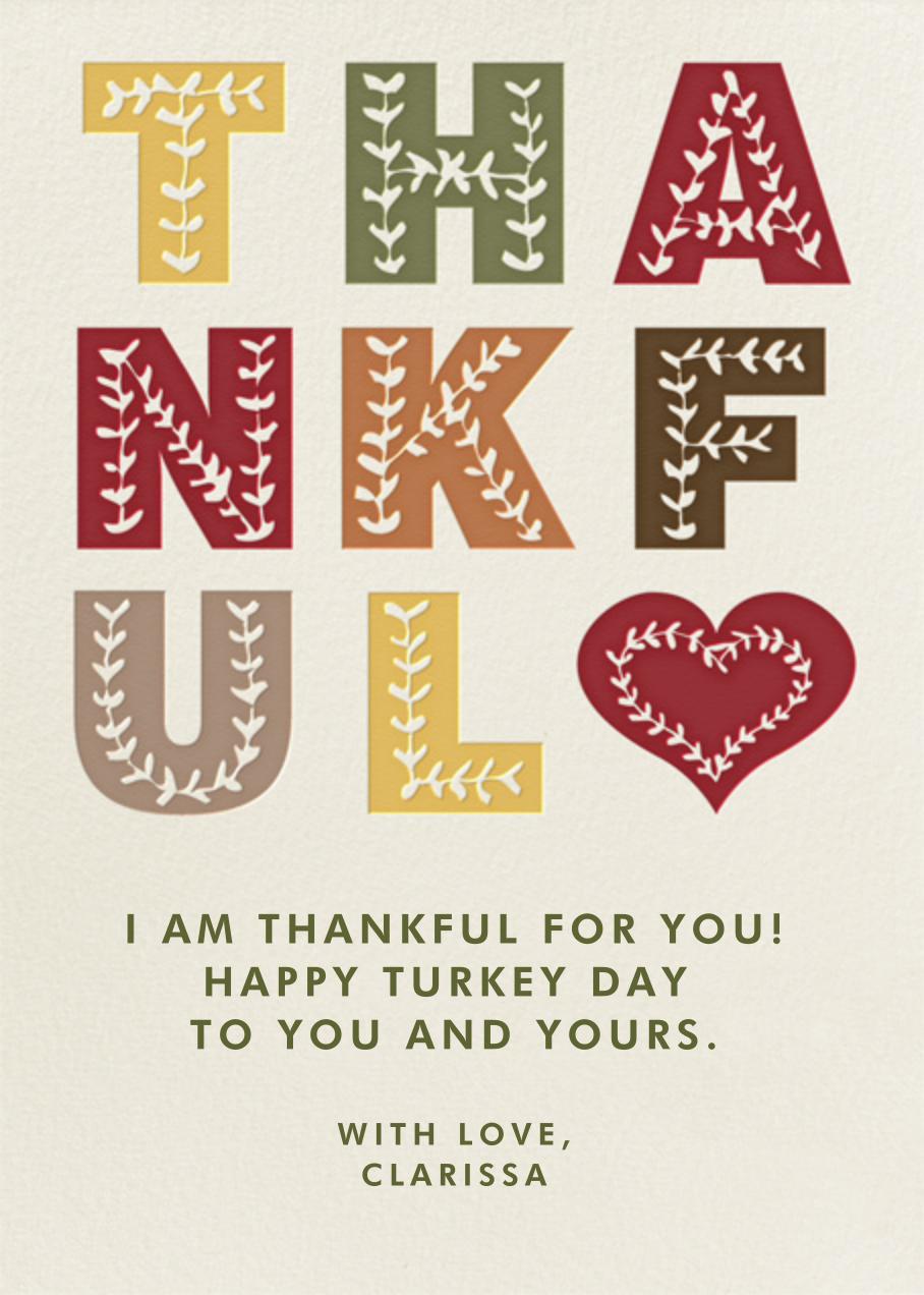 Thankful - Paperless Post - Thanksgiving