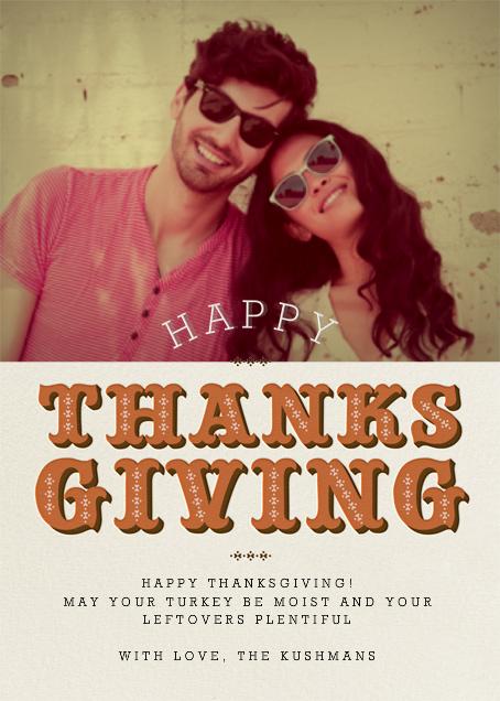 Thanksgiving Photo - Pumpkin - Paperless Post - null