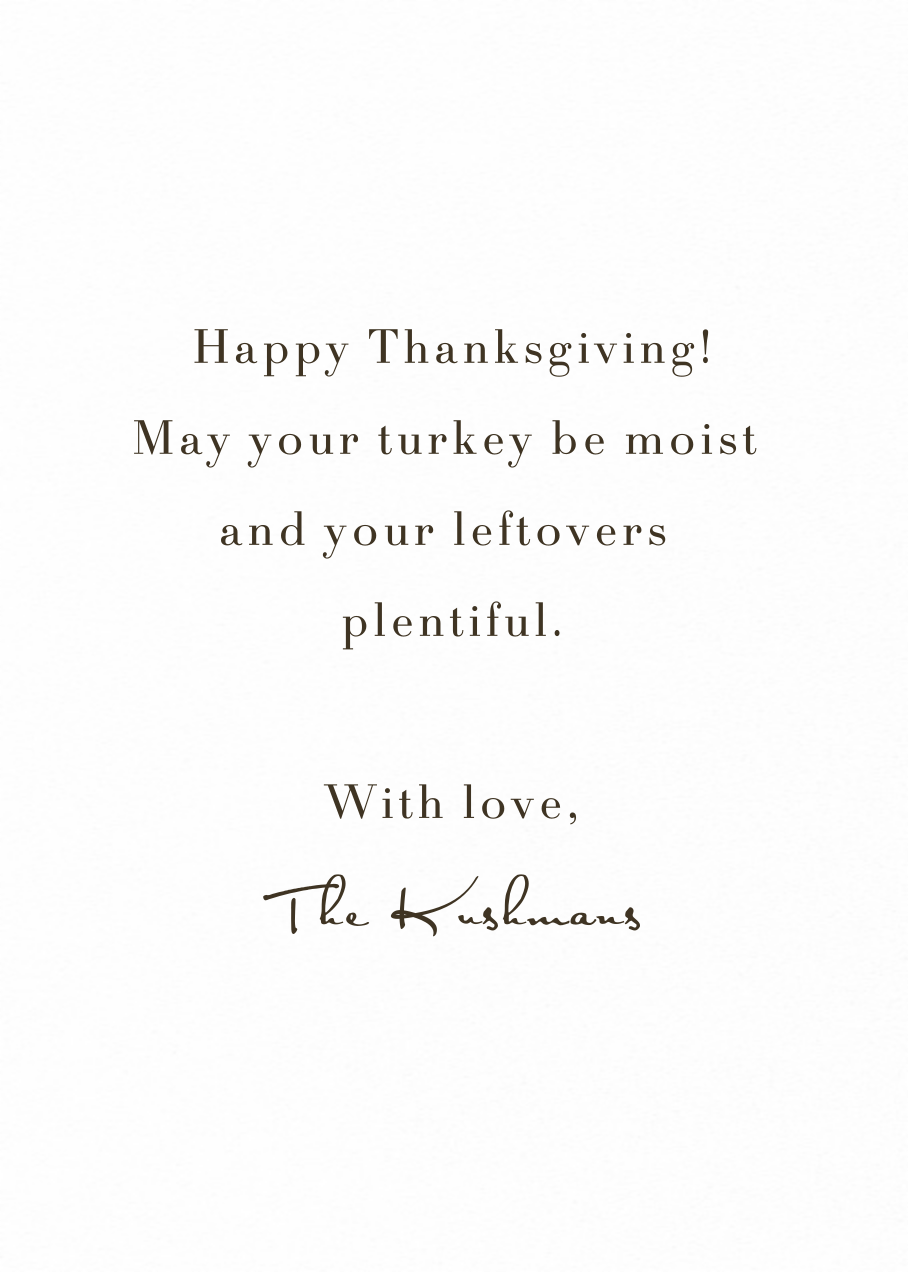 Wishing You - Tall - Paperless Post - Thanksgiving - card back