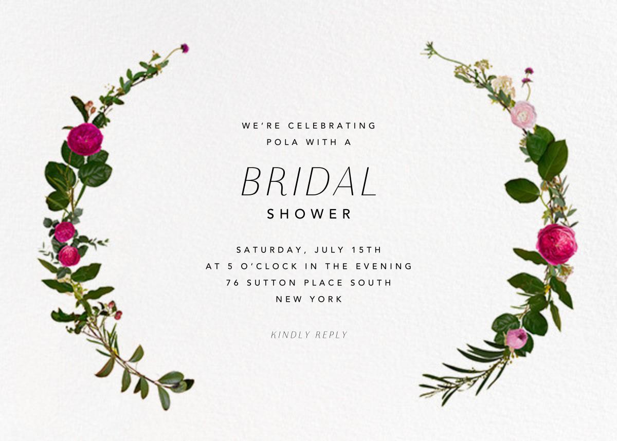 Belvoir - White - Paperless Post - Bridal shower