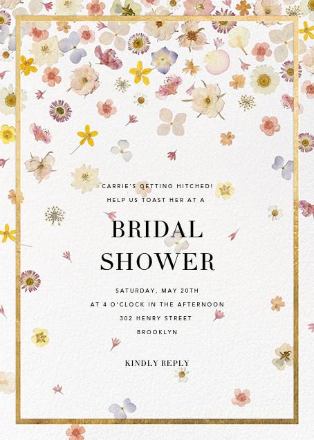 Vincennes - Gold - Paperless Post - Bridal shower