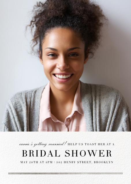 Underscore (Photo) - Silver - Paperless Post - Bridal shower