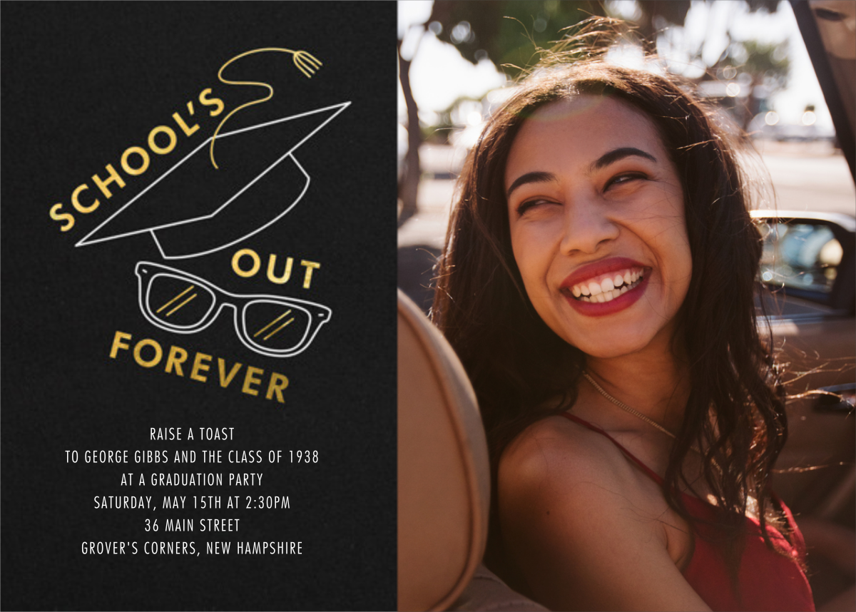Too Cool for School (Photo) - Paperless Post - Graduation party