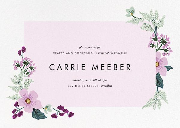 January Herbarium (Horizontal Invitation) - Rifle Paper Co. - Bridal shower