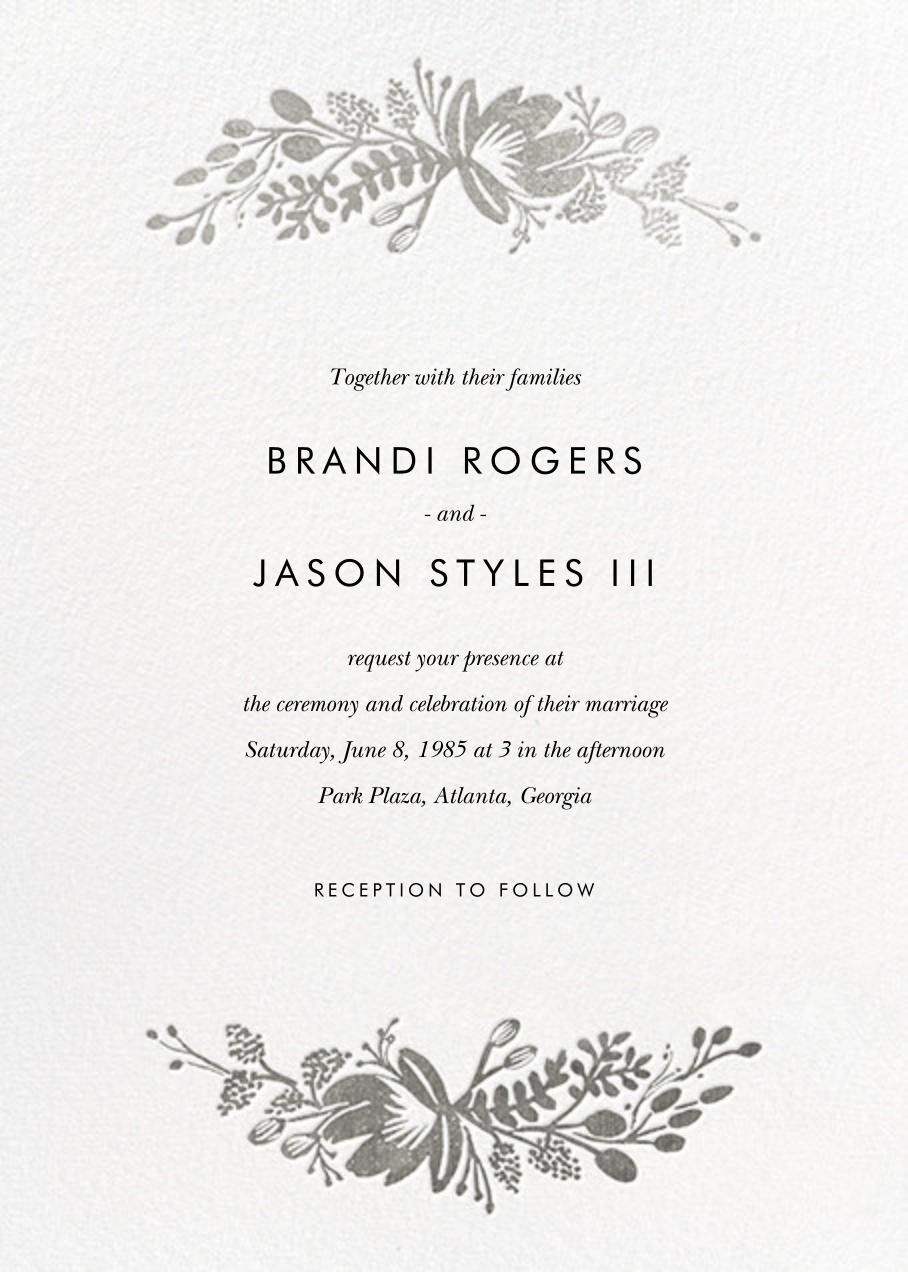 Floral Silhouette (Invitation) - White/Silver - Rifle Paper Co. - All