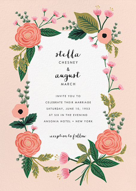 September Herbarium (Invitation) - Meringue - Rifle Paper Co. - All